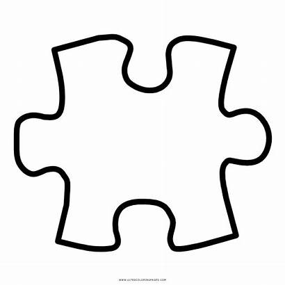 Puzzle Coloring Piece Clipart Pieces Transparent Cross