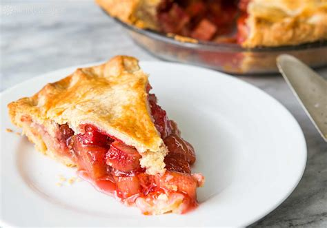 pie recipes rhubarb pie recipe dishmaps