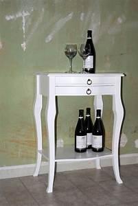 Beistelltisch Weiß Holz : beistelltisch wei wandtisch konsolentisch wandkonsole holz massiv ~ Markanthonyermac.com Haus und Dekorationen