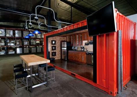 Beer Garden Baltimore by Shipping Containers Transform Warehouse Into Office Space