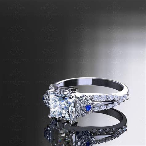 eternal princess cut sterling silver final fantasy ring