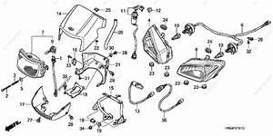 Honda Atv 2005 Oem Parts Diagram For Headlight  Trx500fa