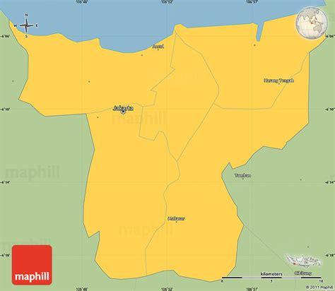 savanna style simple map  jakarta