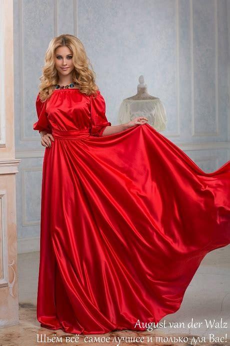 rotes langarm kleid