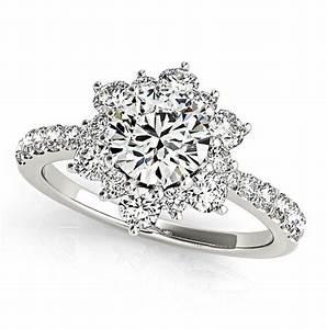 flower diamond rings wedding promise diamond With diamond flower wedding ring
