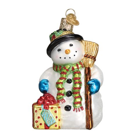 gleeful snowman ornament old world christmas