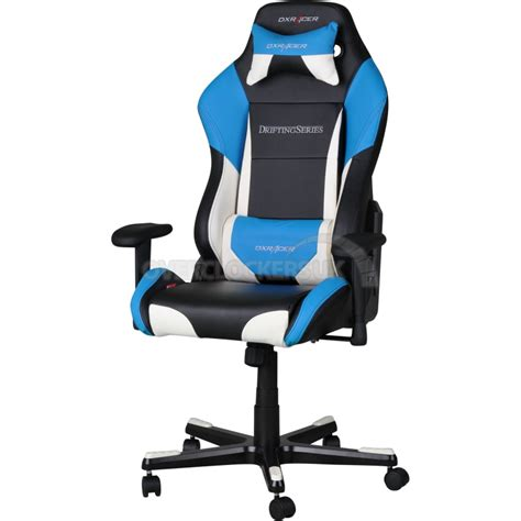 dxr gaming chair uk dxracer drifting series gaming chair black white blue oh