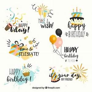 Happy birthday background Vector Free Download