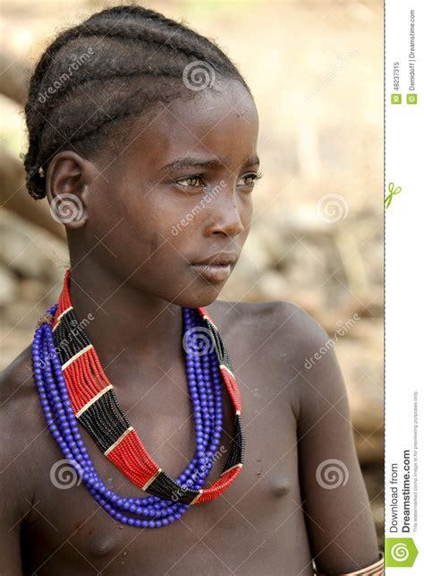 Little african girl tribal
