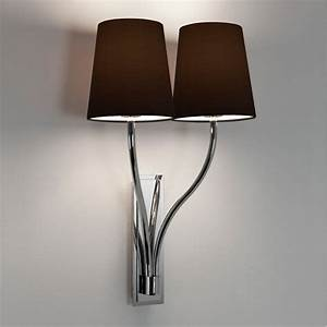 Astro limoges twin wall light in polished chrome