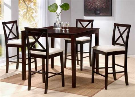 cross back chair dining room table contemporary dinette decoration with dark brown finish