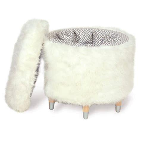 faux fur storage ottoman fur storage ottoman home ideas