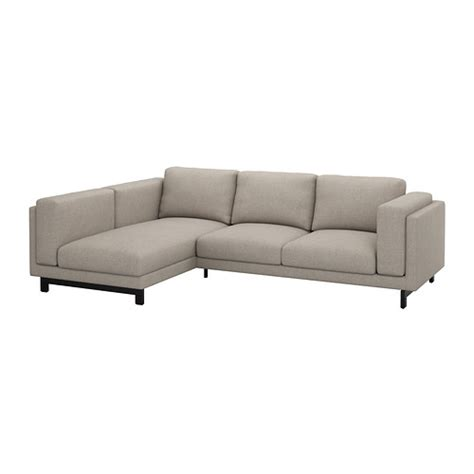 nockeby loveseat with chaise left ten 246 light gray wood
