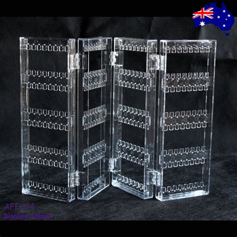 earring display stand holder clear acrylic  fold