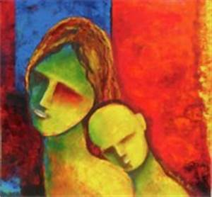 Mother And Child Abstract Paintings for Sale