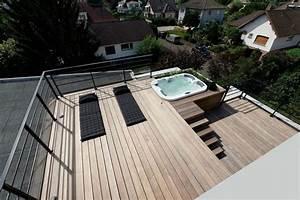 toit terrasse bois amenager son toit en terrasse a vivre With comment construire un toit terrasse