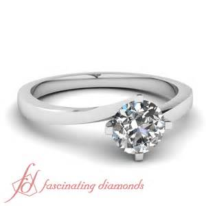 2 carat solitaire engagement ring 1 2 carat cut swirl solitaire womens gold engagement ring si2 ebay
