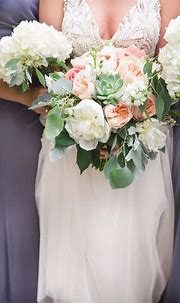 A Stylish Peach Wedding That Will (Literally) Take Your ...