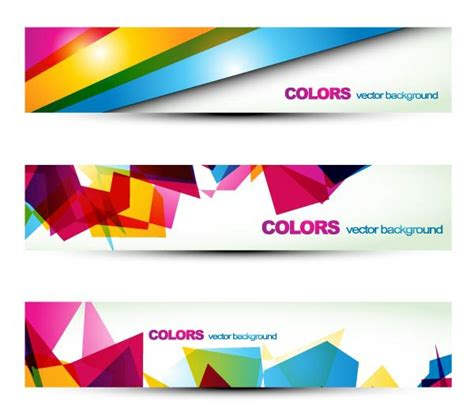 Colorful Banner Banners Design Material Graphics