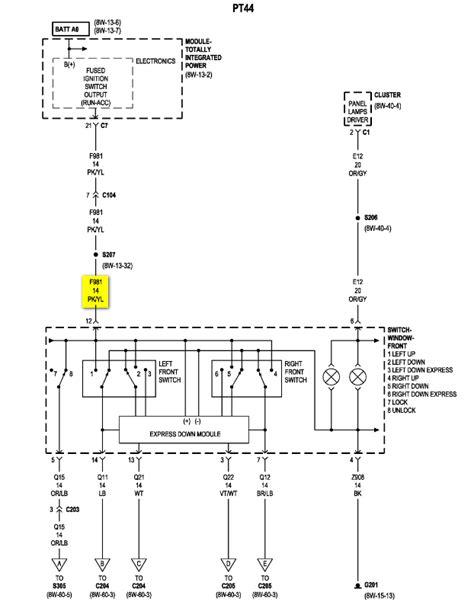 car electrical wiring 2006 pt cruiser wiringdiagram