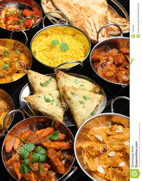 cuisine joseph banquet indien de cari de nourriture image stock image