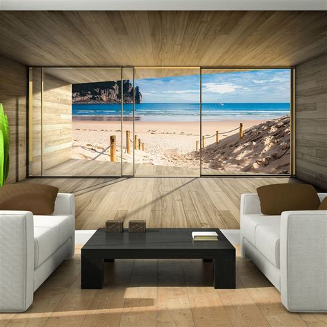 Details About Photo Wallpaper Giant Nature Beach Window