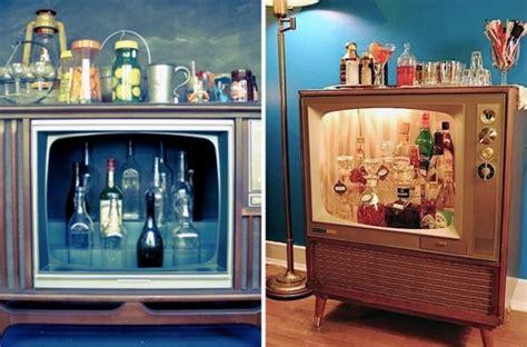Kleine Bar Fürs Wohnzimmer by Kleine Eigene Hausbar Einrichtungsideen Alter Fernseher