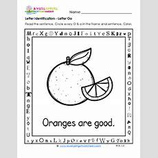 Letter Identification  Letter O Worksheets  Alphabet Worksheets