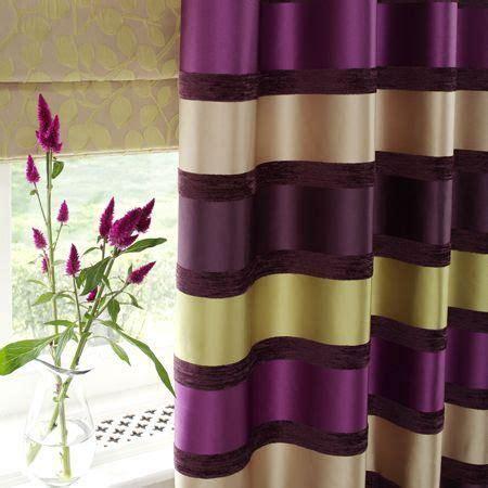 stripe drapes purple green purple  green striped