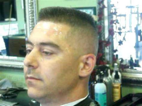 Flat Top Skin Fade Haircut, Military Cut Part 2 of 2   YouTube