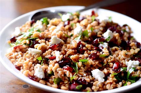 easy cold side dishes recipe for farro cranberry and goat cheese salad life s ambrosia life s ambrosia