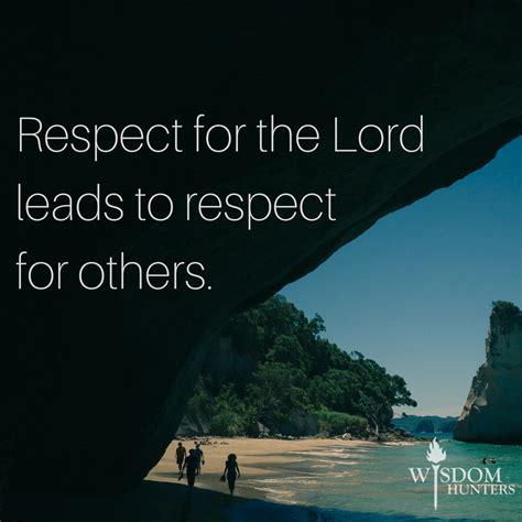 god expects respect wisdom hunters