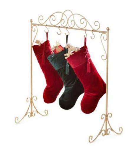 metal stocking holder stand black or gold metal scroll hanger holder stand decor ebay