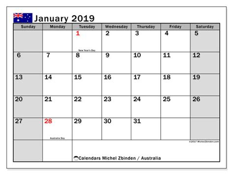 january  calendar australia michel zbinden en