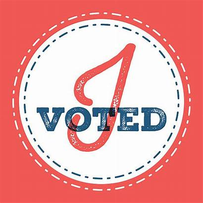 Voted Sticker Clip Vector Voting Illustrations Importance