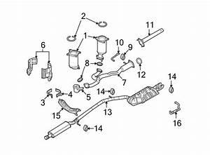 Ford Flex Exhaust System Hanger  Front  Rear   Liter  Non