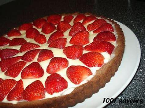 recette de tarte aux fraises et aux 2 chocolats