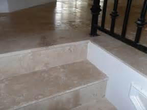 Travertine Tile Stairs