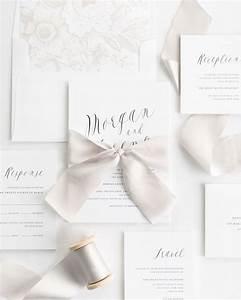 ethereal calligraphy ribbon wedding invitations ribbon With wedding invitations with photo and ribbon