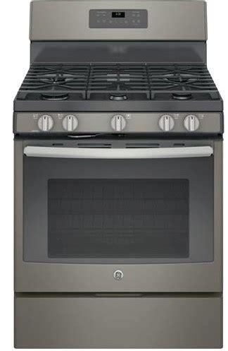 package  ge appliance  piece appliance package  gas range slate