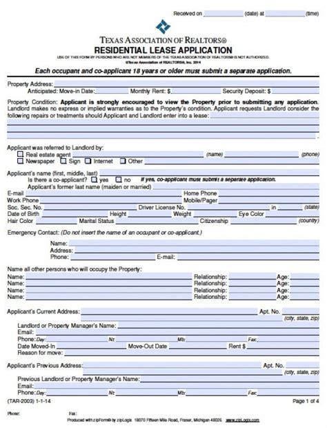 employment application form texas pdf free texas rental application pdf word doc