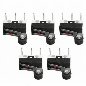 5pcs Ultra Micro Switch Roller Lever Actuator Microswitch
