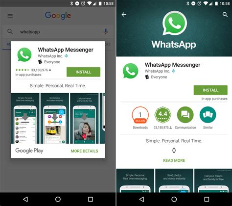 whatsapp playstore whatsapp for android app installs from aren t bypassing play but you might miss some details