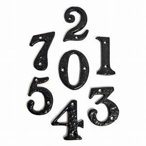 kirkpatrick black cast iron house letters house numbers 1978 With iron house numbers and letters