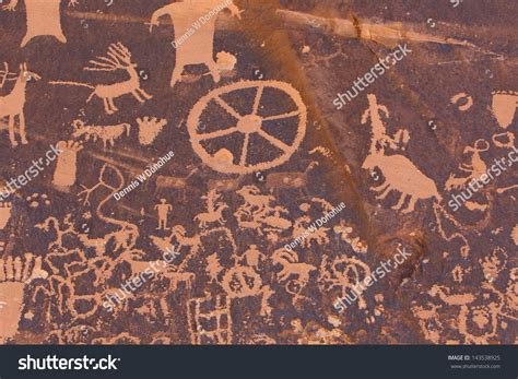 Petroglyphs Carved In Rocks By The Navajo And Hopi Native