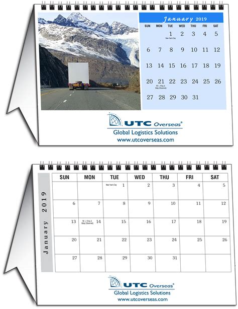 custom photo tent desk calendar calendar company