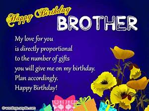 Birthday Wishes For Brother - Wordings and Messages