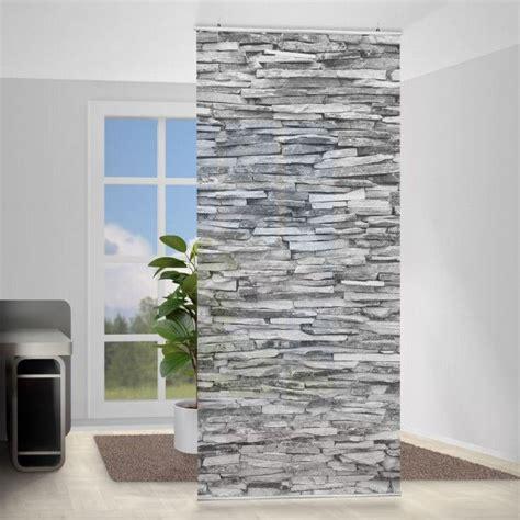 Raumteiler Vorhang Ideen by Raumteiler Arizona Stonewall 250x120cm Black White