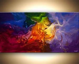 Abstract painting - planets abstract art colorful painting ...
