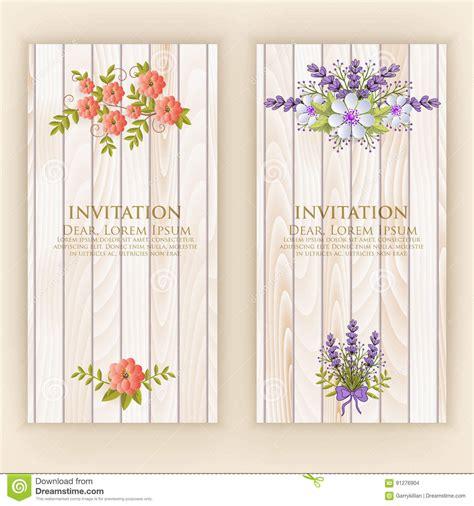 Wedding Invitation Card Vector Invitation Card With
